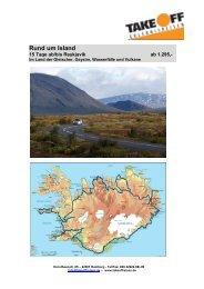 Rund um Island - bei TAKE OFF Erlebnisreisen