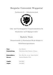 Bergische Universität Wuppertal -  Computersimulation für ...