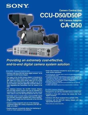 Sony CAD50 data sheet - Talamas