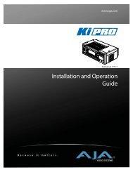 AJA Ki Pro user manual - Talamas
