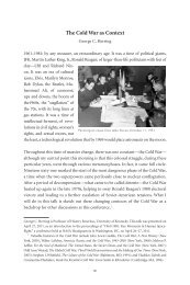 The Cold War as Context - Society for History in the Federal ...