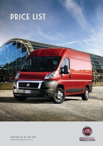 pricE list - Fiat Professional