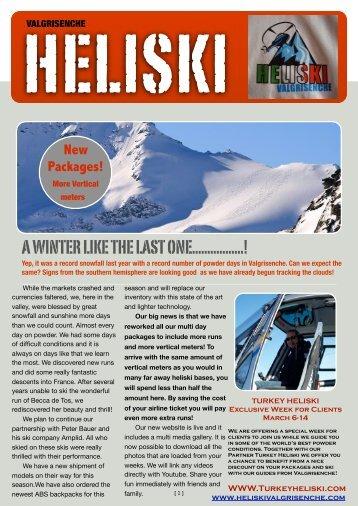 Heliski Newsletter Valgrisenche Eng - Heliski Valgrisenche
