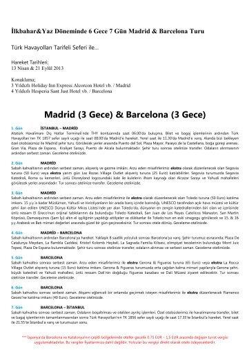 Madrid (3 Gece) & Barcelona (3 Gece) - Bonubon