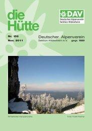 Die Hütte 156 - Deutscher Alpenverein Sektion Hildesheim