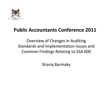 Update on New Auditing Standards - ACRA