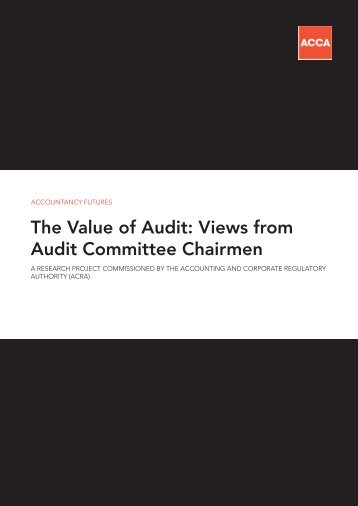 The Value of Audit - ACCA