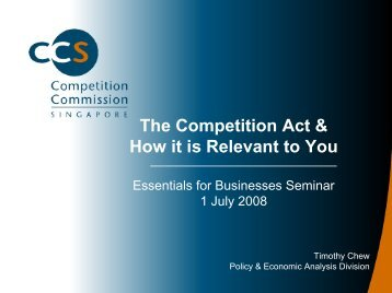 An Overview of the Competitive Regime - ACRA