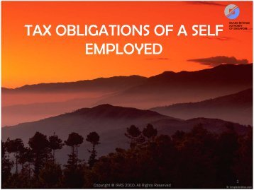 Tax Obligations of a Self-Employed - ACRA