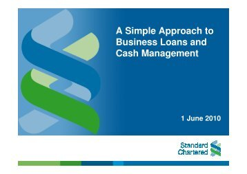 A Simple Approach to Business Loans and Cash Management - ACRA