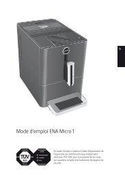 Mode d'emploi, Instruction ENA Micro 1 - JURA Coffee Machines