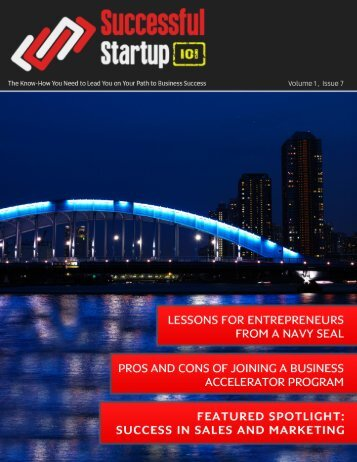 Successful Startup 101, Volume 1 Issue 7