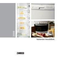 Zanussi háztartási gépek - AVmedia