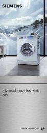 Siemens háztartási nagykészülékek (.pdf - 2134 k) - Kapos Design Bt.
