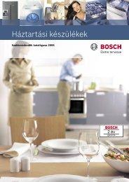 Bosch háztartási készülékek - Kapos Design Bt.