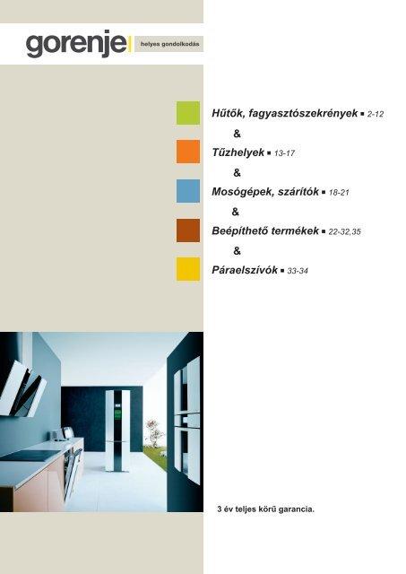 gorenje A4.indd - Kapos Design Bt.