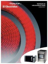 Electrolux tűzhelyek és mikrók (.pdf - 489 k) - Kapos Design Bt.