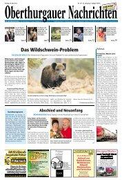 Das Wildschwein-Problem - Aktuelle Ausgabe
