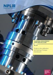 Guide to the calibration and testing of torque transducers - NPL ...