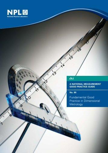 Fundamental Good Practice in Dimensional Metrology - NPL ...
