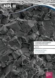 Mechanical Tests for Hardmetals - NPL Publications Database ...