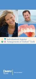 Individualized Anterior Arrangements of Trubyte Teeth
