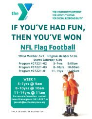 NFL flag football 2013 Spring - YMCA of Greater Rochester