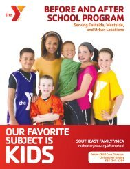 OUR FAVORITE SUBJECT IS - YMCA of Greater Rochester