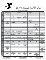 Eastside Family YMCA • 585-341-4000 Group Exercise Schedule 11 ...