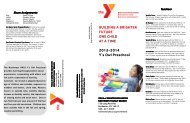 2013-2014 Preschool Brochure - YMCA of Greater Rochester