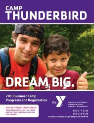 2013 Brochure - YMCA of Greater Rochester