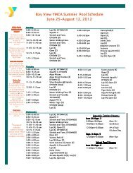 Pool Summer 2012 Schedule - YMCA of Greater Rochester
