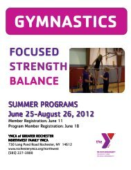 Summer 2012 Gymnastics - YMCA of Greater Rochester