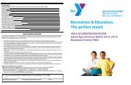 2012-2013 BASP Registration Packet - YMCA of Greater Rochester