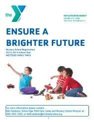 2013-2014 Information Brochure and Registration Packet - YMCA of ...