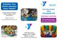 birthday parties! - YMCA of Greater Rochester