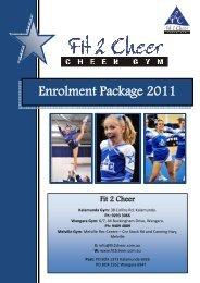 20120111 Enrolment Package 2011 - Fit 2 Cheer