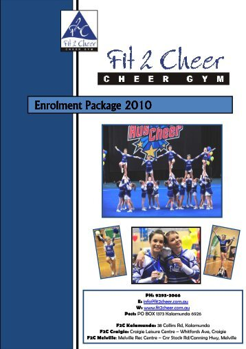 F2C Enrolment Pack 2010.pdf - Fit 2 Cheer