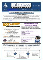 A note from Bri.... THE COMPETITION SEASON IS ... - Fit 2 Cheer