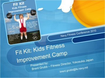 Fit Kit Kids Fitness Improvement Camp Presentation - From the Field ...