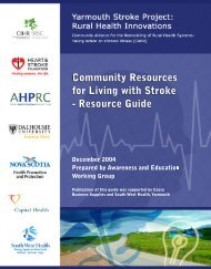 View the resource guide - Atlantic Health Promotion Research Centre