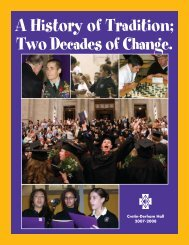 A History of Tradition; Two Decades of Change. - Cretin-Derham Hall