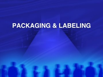 PACKAGING & LABELING - Cretin-Derham Hall