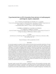 Experimental data on SOA formation from mixtures of ... - SciELO