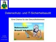 pdf (0,4 MB) - Bernd Schütze: Medizinische Informatik