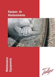 Maintenance Equipments Equipos de Mantenimiento - Talgo