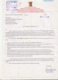 Letter regarding Affiliation of ITI - ITCs - Talim Rojgar
