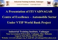 Final Vadnagar ITI Presentation in .pdf form before ... - Talim Rojgar