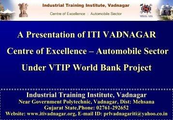 Final Vadnagar ITI Presentation in .pdf form before ... - Talim Rojgar