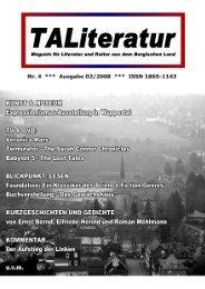 TALiteratur, Nr. 4, Ausgabe 02/2008 (Download als pdf ca. 1,5 MB)